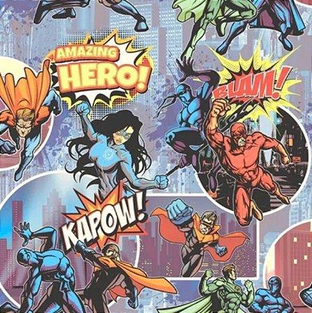 Papel de Parede Super Heróis (Francês)