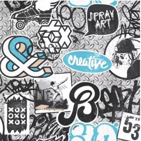 Papel de Parede Teen Grafite (Francês)