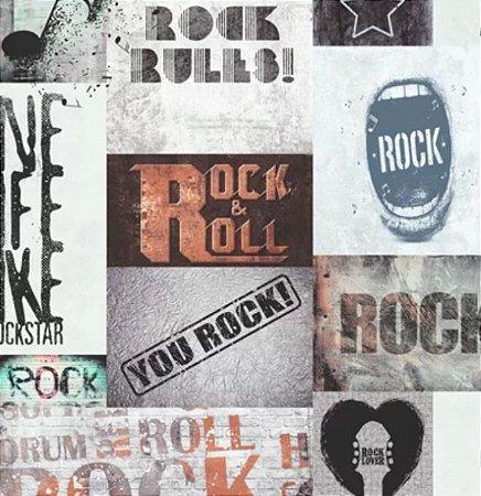 Papel de Parede Vintage Rock (Francês)