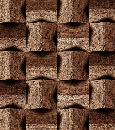 Papel de Parede 3D Madeira Geométrico (Italiano)