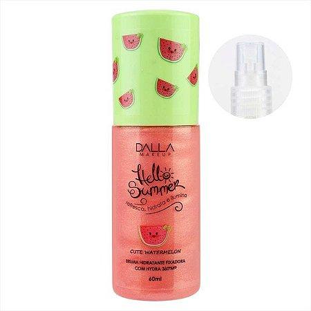 Bruma Hidratante Fixadora Com Hydra Hello Summer Dalla Makeup - Cute Watermelon