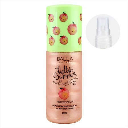 Bruma Hidratante Fixadora Com Hydra Hello Summer Dalla Makeup - Pretty Peach