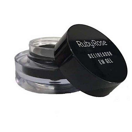 Delineador em Gel Black - RubyRose