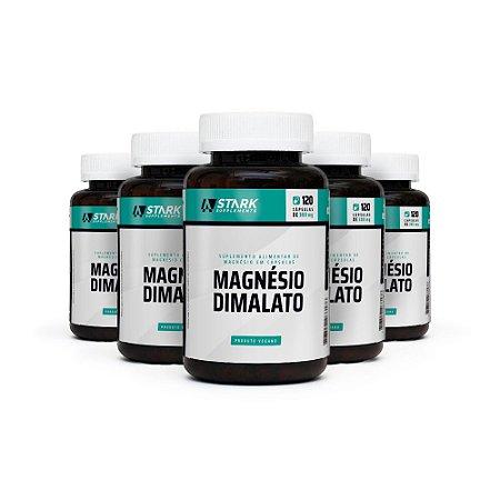 Kit 5x Magnésio Dimalato  - 120 cápsulas