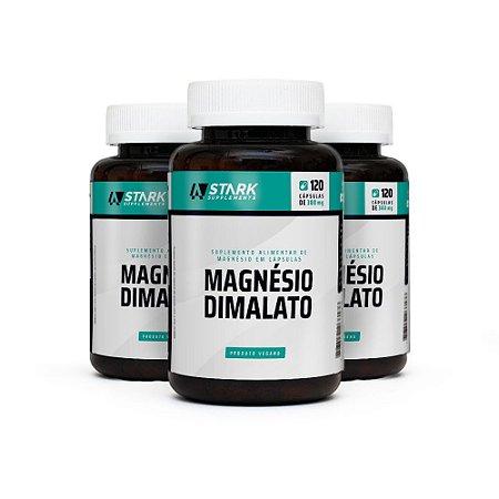 Kit 3x Magnésio Dimalato - 120 Cápsulas