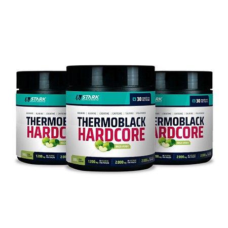 Kit 3x Thermoblack Hardcore (300 g) - Pré-treino em pó