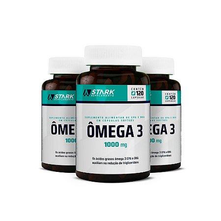 Kit 3x Ômega 3 1000 mg - 120 cápsulas