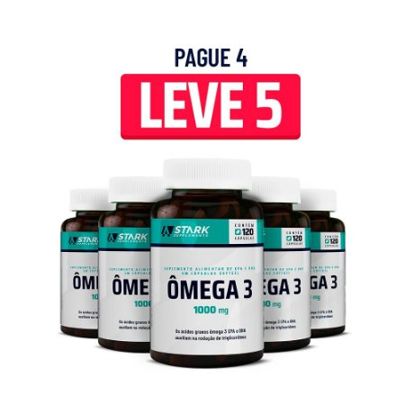 Kit 5x Ômega 3 1000 mg - 120 cápsulas