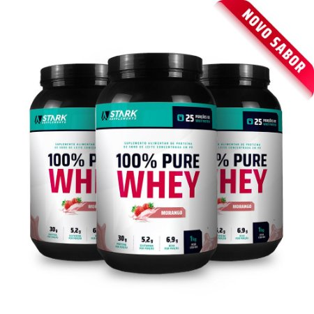 Kit 3x 100% Pure Whey - Whey Protein Concentrado (1Kg)