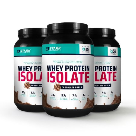 Kit 3x Whey Protein Isolate (1 kg) - Whey Protein Isolado