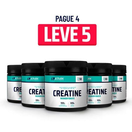 Kit 5x Creatine Monohydrate (300 g) - Creatina em pó