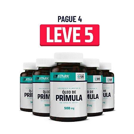 Kit 5x Óleo de Prímula 500 mg - 120 cápsulas