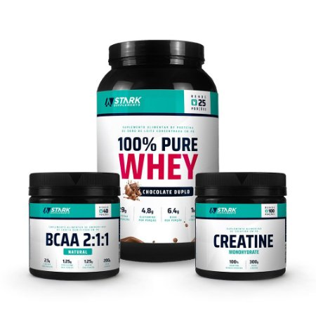 Combo: 100% Pure Whey + BCAA 2:1:1 + Creatine Monohydrate