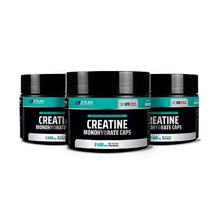 Kit 3x Creatine Monohydrate - 120 Cápsulas