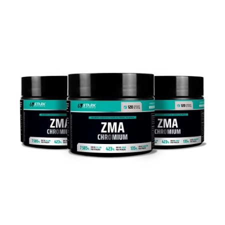 Kit 3x ZMA Chromium - 120 Cápsulas