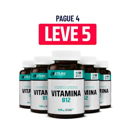 Kit 5x Vitamina B12 - 120 Cápsulas