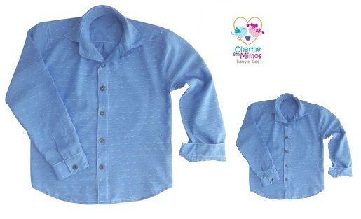 Camisa Jeans Pai e Filho