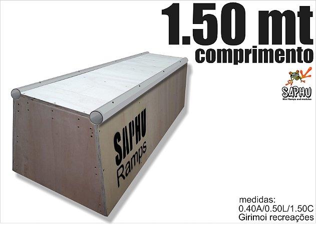 CAIXOTE SKATE SLIM DUPLO COPING 1.50 SAPHU RAMPS COMPRIMENTO