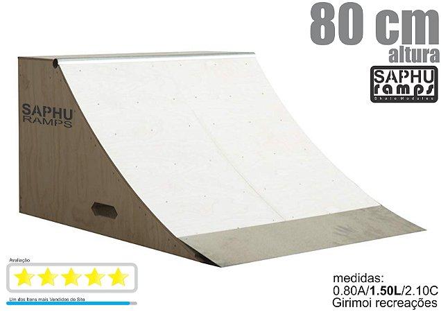 Quarter Skate Rampa para Skate madeira ( 80 cm ) completo