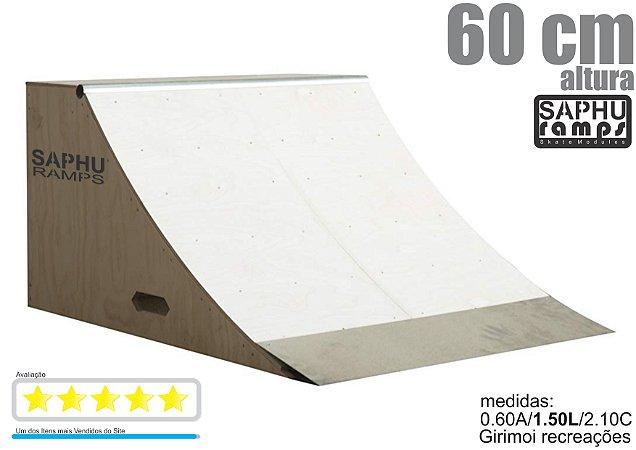 Quarter Skate Rampa para Skate madeira ( 60 cm ) completo