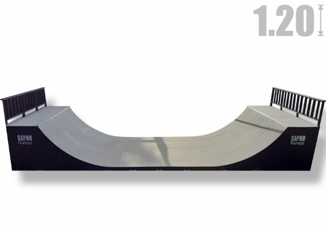 MINI RAMP SKATE 1.20 FARM (com pintura e piso especial externo)