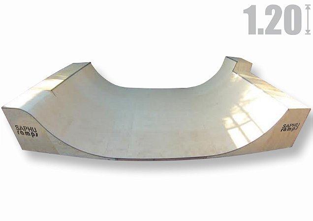 MINI RAMP 1.20 (Base) + EXTENÇÃO (30cm) + Saída Roll in / Carver, Natural