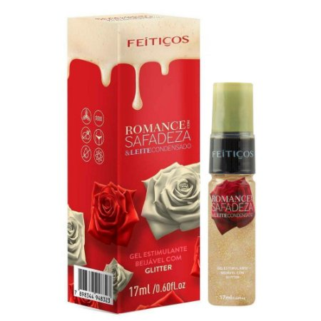 Romance Com Safadeza Gel Beijável Glitter 17ml Feitiços