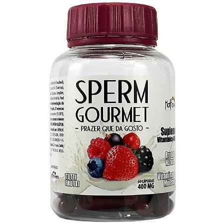 Sperm Gourmet Sabor na Ejaculação 60 Cápsulas Hot Flowers
