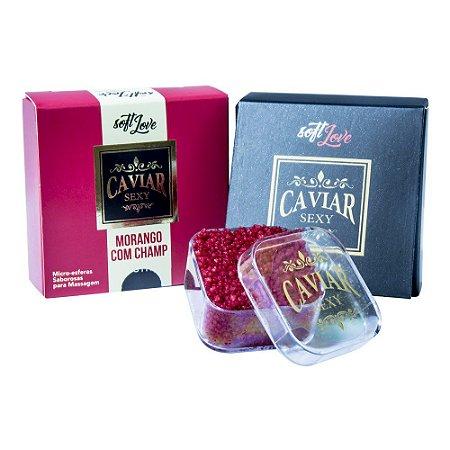 Caviar Sexy Microesferas Morango Com Champanhe 14g Soft Love
