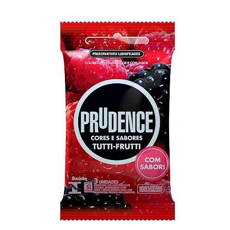 Preservativo Tutti Frutti Com 3 Unidades Prudence