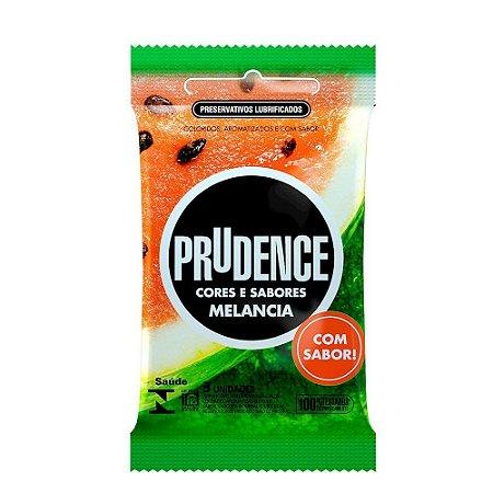 Preservativo Melancia Com 3 Unidades Prudence