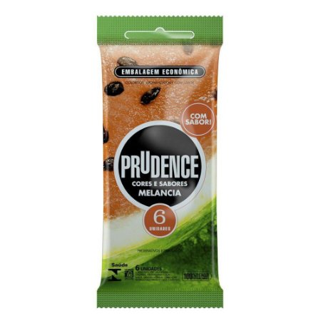 Preservativo Melancia Com 6 Unidades Prudence