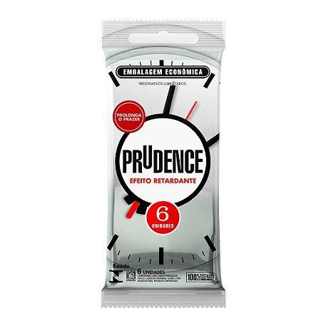 Preservativo Efeito Retardante Com 6 Unidades Prudence