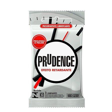 Preservativo Efeito Retardante Com 3 Unidades Prudence