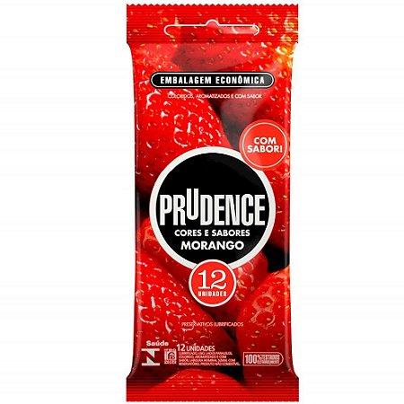 Preservativo Morango Com 12 Unidades Prudence
