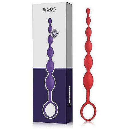 Plug Massageador Sensation Vermelho – 25,5cm x 2cm