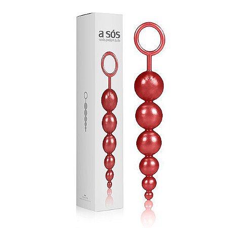 Plug Massageador Love Ball Vermelho - 15cm x 2,5cm