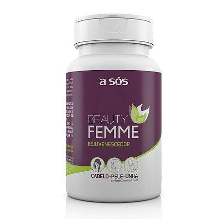 Rejuvenescedor do Cabelo, Pele e Unha Beauty Femme - 60 Comprimidos