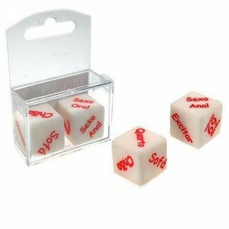 Dado com Caixinha Cubos do Amor Hot - Embalagem com 02 Unidades