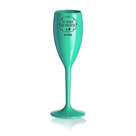 Taça Acrílica um Brinde aos Momentos - Verde