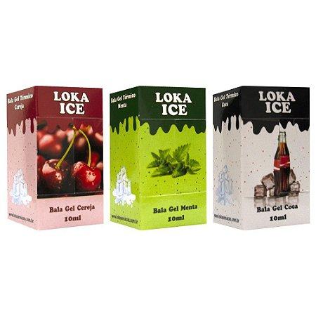 Loka Ice Bala Gel Comestível 10ml Loka Sensação