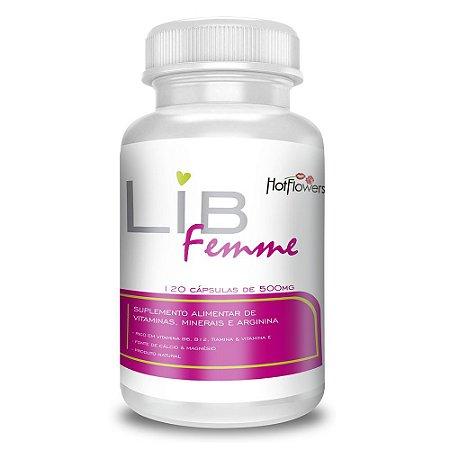 Libfemme Suplemento Vitamínico 120 Cápsulas Hot Flowers