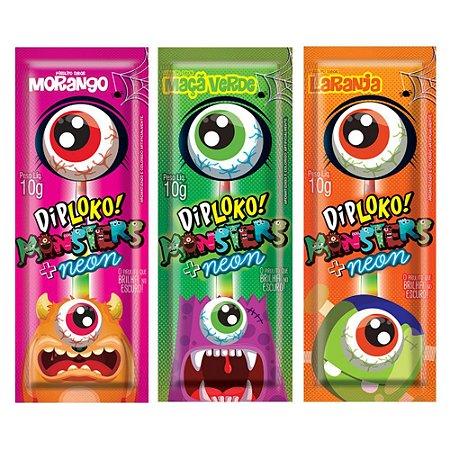 Pirulito Dip Loko Monsters +neon Unitário 10g Danilla