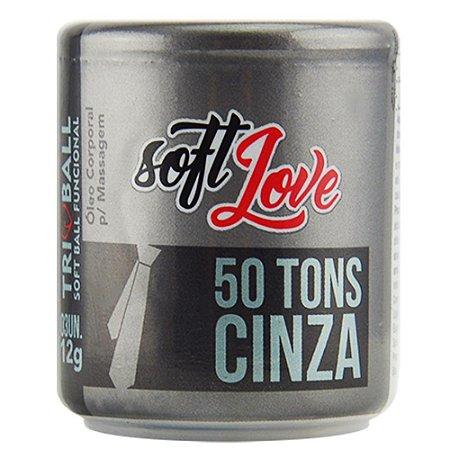 Triball Bolinha 50 Tons de Cinza 12g 03 Unidades Soft Love
