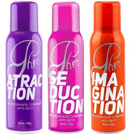 Pher Perfume Aerossol Feromônio 85ml Soft Love