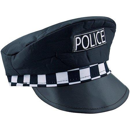 Quepe Policial Com Xadrez Lady Love