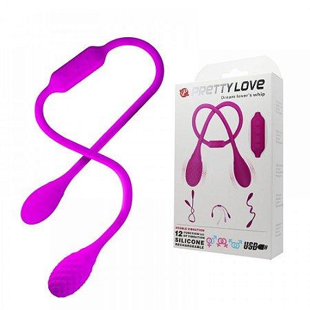 Vibrador Duplo 12 Vibrações Pretty Love Dream Lover's Whip