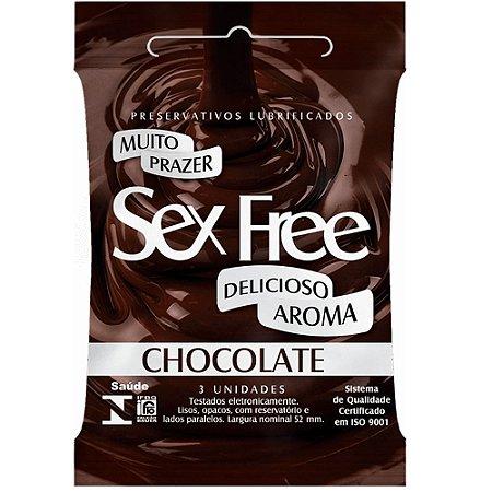 Preservativo Chocolate Com 3 Unidades Sex Free