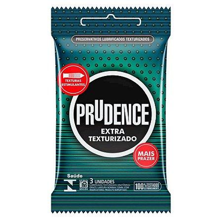 Preservativo Extra Texturizado Com 3 Unidades Prudence