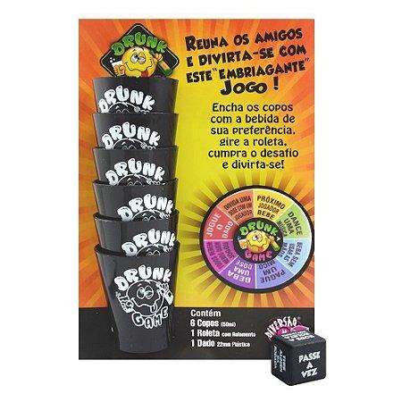 Drunk Game Jogo Roleta Com 06 Copos Diversão Ao Cubo